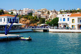 Aghios Nikolaos city at Crete island in Greece. View of the harb — Stock Photo