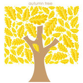 Abstract autumn tree on white background — Stok Vektör