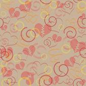 Valentine wzór serca bez szwu — Wektor stockowy