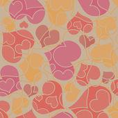 Valentine srdce bezešvé vzor — Stock vektor