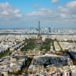 View on Eiffel Tower and panorama of Paris in autumn — Stock Photo #41261613