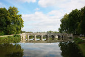 Old stone bridge near the castle Chambord, France  — Photo