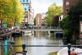 Canals in Amsterdam  — Stock Photo