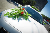 Car of the newly-married couple close up — Stock Photo