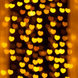 Defocused heart lights — Stock Photo