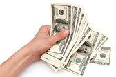 Dollars in hand — Stock Photo
