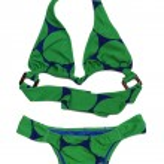 Bikini in green on a white background — Stock Photo #11447172