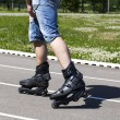 A man on roller skates — Stock Photo