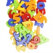 ABC lettering near  plastic alphabet letters — Stock Photo