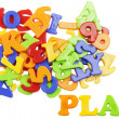 PLAY lettering near plastic alphabet letters — Stock Photo #12550123