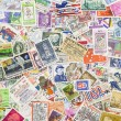 Stamps from different countries and different time — Stock Photo