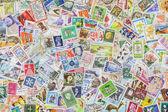 Farklı ülkelerden ve kez posta pulları — Stok fotoğraf