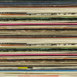 Old record carton covers stacked in pile — Stock Photo #17468883