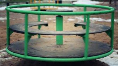 Carousel playground — Stock Video