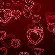 Stock Video: Abstract background from hearts