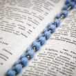 Stock Photo: Bible with rosary