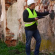 Building inspectors at old ruins episode 4 — Vídeo de stock