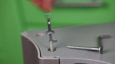 Screwing furniture episode 3 — Stockvideo