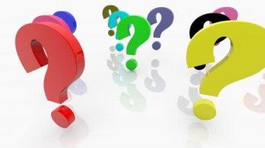 Punti interrogativi — Video Stock