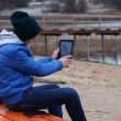 Teen with tablet PC episode 2 — Stock Video