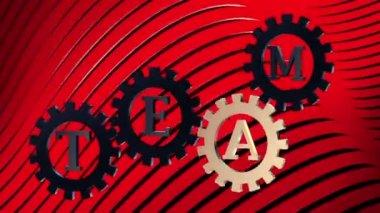 Слово власть на абстрактный gears эпизод 4 — Стоковое видео
