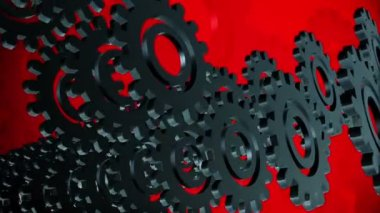 Abstract gears — Stock Video