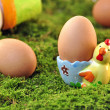 Stock Photo: Easter - chicken egg in eggcup