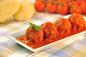 Meatballs in tomato sauce — Stock Photo