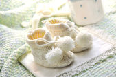 Baby boy shoes — Stock Photo