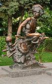 "Monument to the Hero of the story ""Nahalenok"" Mikhail Sholokhov. — Stock Photo"