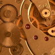 Closeup clock mechanism — Stock Photo