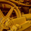Closeup bulldozer engine — Stock Photo