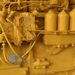 Closeup bulldozer engine - Stock Photo