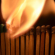 Stock Photo: Match sticks burning