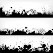 Black blots on white - Stock Vector