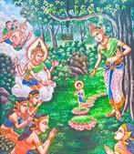 Painting of Buddha story — Zdjęcie stockowe
