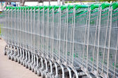 Car for supermarket — Stock Photo