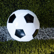 Stock Photo: Ball on field and line