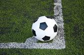 Köşe çizgi üzerinde topu — Stok fotoğraf