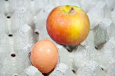 Apple and egg — Stock Photo
