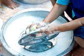 Svamp för rengöring — Stockfoto
