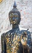 Estatua de buda negro — Foto de Stock