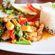 Thai food call KHAO PUD KEEMAO TA LE — Stock Photo
