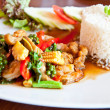 Thai food call KHAO PUD KEEMAO TA LE — Foto Stock