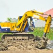 Backhoe working — Stock Photo