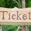 Ticket — Foto de Stock
