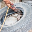 Fix tyre — Stock Photo #34644201