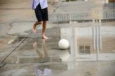Fútbol descalzo — Foto de Stock