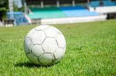 Bola y estadio — Foto de Stock