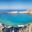 View at Lindou Bay from Lindos Rhodes island, Greece — Stock Photo #15388877
